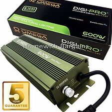 Omega 600W Watt Digital Dimmable Super Lumens Ballast Grow Light Hydroponic