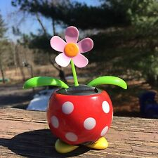 Disney Mickey or Minnie Solar Dancing Flowers Potted Plants Daisies VIDEO
