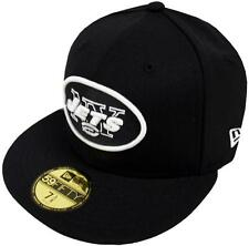 New Era NFL New York Jets Black White 59fifty Fitted Cap Basecap Limited Edition