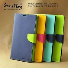 Mercury Goospery Fancy Diary Leather Case Flip Cover for HTC Desire 620 5""
