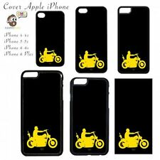 COVER  Motocicletta Giallo Nero by Tom Fiorentino Apple iPhone 4 5 6 Plus Case M