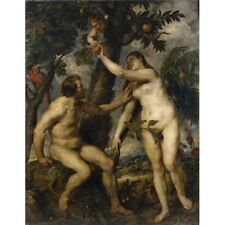 1628 Peter Paul Rubens Adam And Eve Garden Of Eden Biblical Painting Art Poster