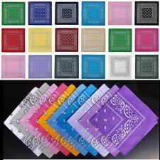 100% Cotton Paisley Bandanas double sided head wrap scarf wristband