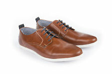 Branded export surplus Tan leather casual Lace up shoes for men