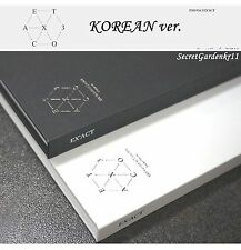 EXO EX'ACT EXACT 3rd ALBUM KOREAN ver. Lucky / Monster :CD+Photocard+Poster+Gift