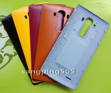 ~Batteria Copri Faux Pelle Leather Battery Back Cover LG G4 F500 H815 H810 H811