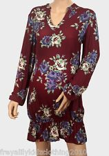 Ladies Womens maternity tops/ Tunic tops - Size 8 - Size 20 -Burgundy