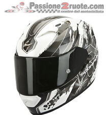 Casco integrale Scorpion Exo 1200 air Lilium bianco nero white black moto