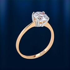 585 Gold Ring Damen Ring aus 585 Rotgold Echtgold Ring 585 russisches Rotgold