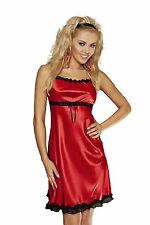 DKaren LILI Luxury Satin Sexy Babydoll Chemise Nightdress Nightgown Lingerie