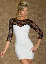 Womens Size 8 10 12 Lace Going Out Evening Elegant Dress Sweetheart Celeb Mesh