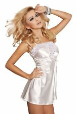 DKaren FLORES Luxury Satin Sexy Babydoll Chemise Nightdress Nightgown Lingerie