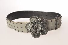 CINTURA CAVALLINO GRIGIO PERLA CON STRASS DONNA WILLIAM WALLACE 16D4