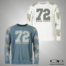 Mens Branded Ocean Pacific Fashionable Raglan Style Crew Sweater Top Size S-XXL