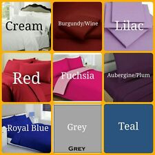 Plain Dyed Quality Poly Cotton Flat Sheets in 20 Colours ~~ Pillow Cases ~~