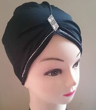 Crystal Tube Cap Hijab Scarf CrissCross Diamante Cap Underscarf Pleated Bonnet