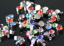 Beautiful Rhinestone Round Charms / Pendants Mixed Colours Jewellery