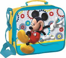 Disney Mickey Mouse Clubhouse 3 Piece School Lunch Bag Set Bottle & Snack Pot