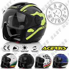 CASCO HELMET MOTO SCOOTER JET ACERBIS X-JET ON BIKE VARI COLORI