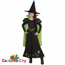 Childs Girls Official Wizard of Oz Wicked Witch of the West Fancy Dress Costume