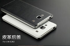 Luxury Chrome Leather+PC Case Ultra Thin Back Cover For Xiaomi Redmi 2 / Prime