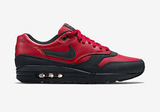 Nike Air Max 1 QS Essential Black Gym Red Trainers Bred Ship Worldwide