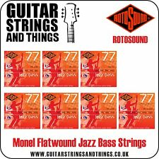 Rotososund JAZZ BASS 77 Monel Flatwound Bass Guitar Strings - 4 & 5 String