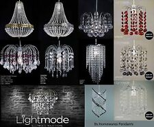 Chandelier Style Ceiling Light/Lamp Shade Droplet Pendant Acrylic Crystal Bead