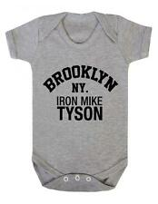 """Baby Play suit """"Iron Mike Tyson Brooklyn NY"""" Boxing , Mike Tyson, Baby Grow"""