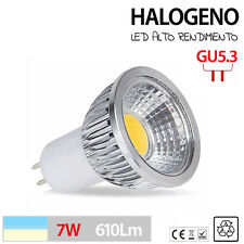 LED Halogeno GU5.3 lampara LED blanco frio y calido 3W 5W 7W LUZ POTENTE