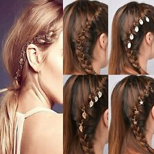 5X New Arrival Charm Hoop Dreadlock Updo Hair Pin Gold Plated Clip Earrings Ring