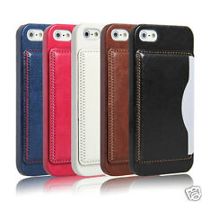 Luxury Case for Apple iPhone 5 5S Pu leather back cover wallet stand