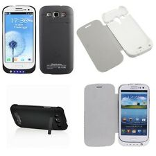 3200MAH EXTERNAL POWER CHARGER  BATTERY FLIP CASE FOR SAMSUNG GALAXY S3 i9300