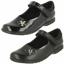 CLARKS Trixi Candy Girls Velcro School Shoe in Leather or Patent