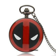 Antique Spiderman Super Hero Necklace Chain Pendant Fob Pocket Watch Steampunk