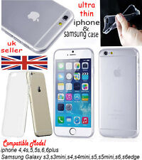 Ultra Thin 0.2mm Crystal Clear Transparnt Soft  Case cover For iPhone & Samsung