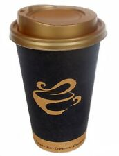 Coffee to go Becher, Gold Cup, Kaffeebecher 16oz-0,4l & Deckel gold 100-1000St.