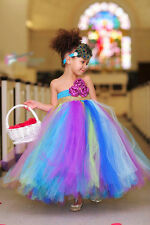 BLUE MIX TUTU DRESS FOR GIRL INFANTS - BIRTHDAY, PARTY