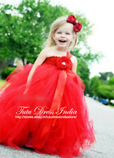 RED TUTU DRESS FOR GIRL INFANTS - BIRTHDAY, PARTY, FREE BAND