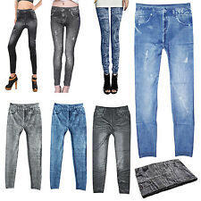 Femme Jeans Sexy Maigre Jambiere Collant Jambiere Extensible Pantalon WT