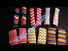 chevron stripe cotton fleece baby pram/buggy/car seat harness strap cover pads