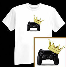 GAMING PS3 PS4 XBOX KING  CHRISTMAS T SHIRT 3-15 ADULT S - 5XL  PRESENT PS4 XBOX