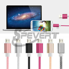 1-3M Aluminum Braided Micro USB Data Sync Charging Cable For Android Smartphones