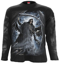 Spiral Direct REAPER BATS, Longsleeve T-Shirt Black|Death|Bats|Reaper|Skeleton