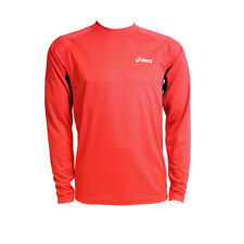GENUINE MENS ASICS LONG SLEEVE RUNNING T-SHIRT RED (511322)
