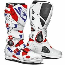 SIDI CROSSFIRE 2 SRS BOOTS RED WHITE BLUE OFF ROAD MOTOCROSS ENDURO MX CHEAP NEW