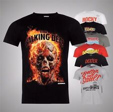 New Mens Branded Official Graphic Printed TV Film Cult T Shirt Top Size S M L XL