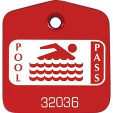 Recreational Pool Pass Red, Package Of 100