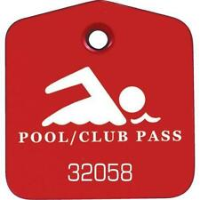Recreational Pool And Club Pass Red, Package Of 100