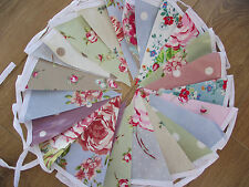 Oilcloth Spot Floral Bunting Cath Kidston Clarke & Clarke